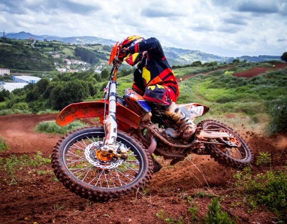 Motocross rider in a championship